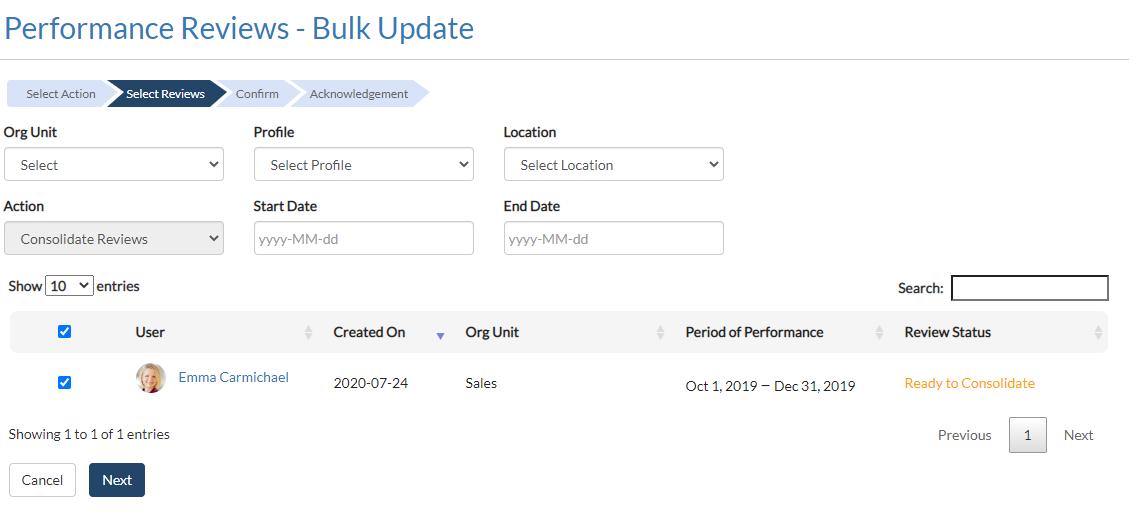 Bulk Update Filter